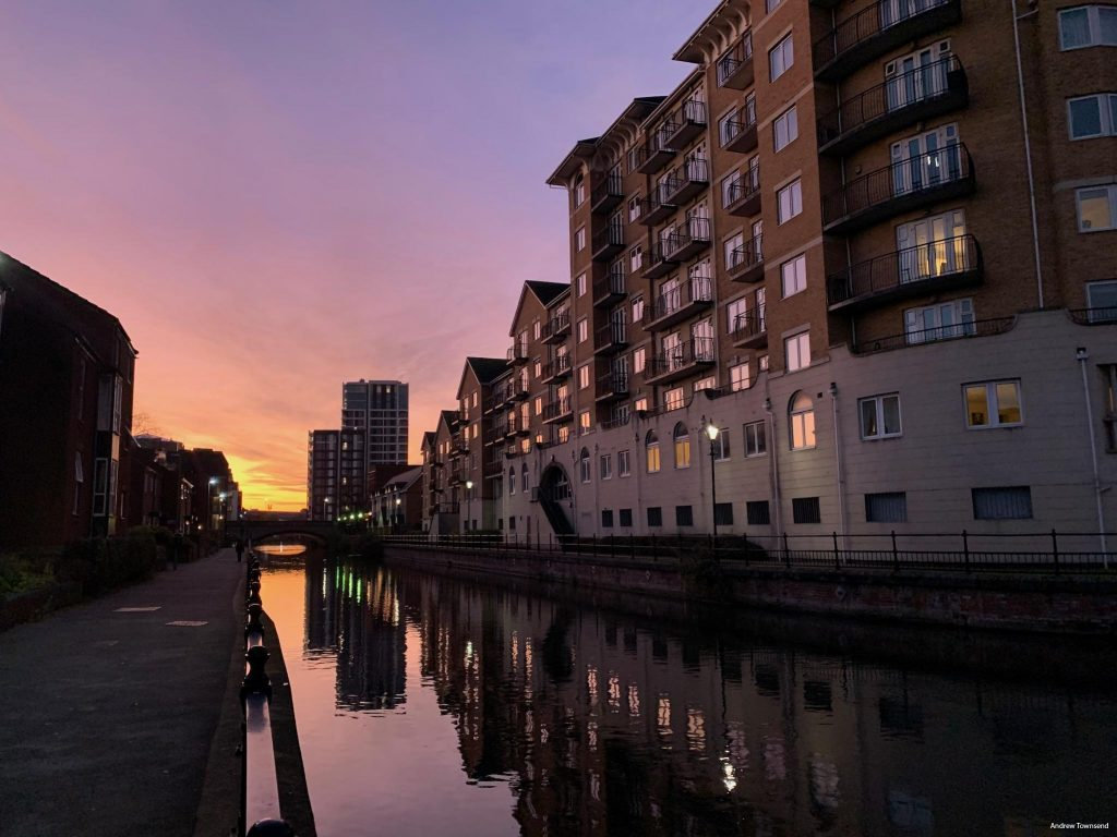 The Kennet at sunset